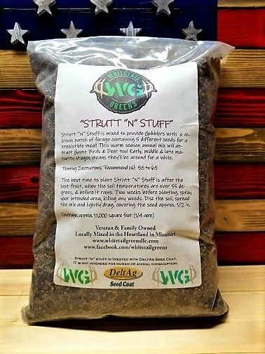 "WHITETAIL GREENS STRUTT ""N"" STUFF SEED MIX"