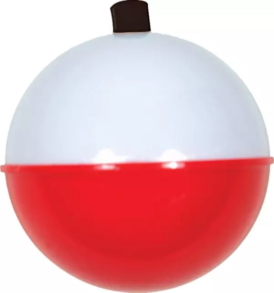 "Betts Plastic Round 1"" Red/White Bobber"