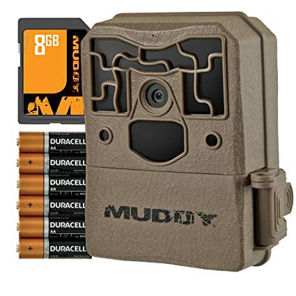 MUDDY® PRO-CAM 14 MEGAPIXEL/ 18 NO GLOW IR LED'S W/ BATT & 8GB SD CARD
