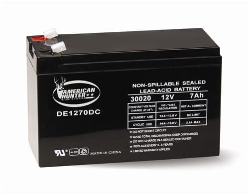 AMERICAN HUNTER® 12 VOLT 7 AMP HR RECHARGEABLE BATTERY
