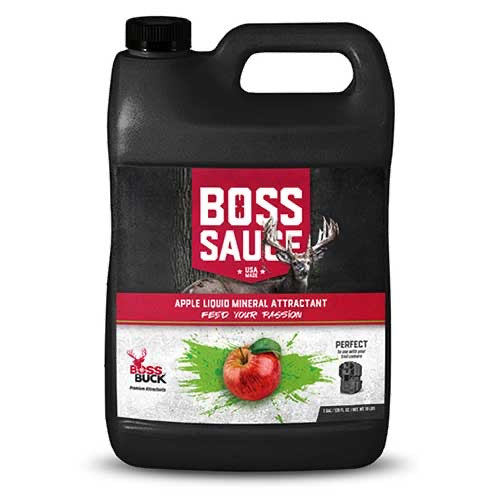 BOSS BUCK® BOSS SAUCE APPLE LIQUID MINERAL ATTRACTANT