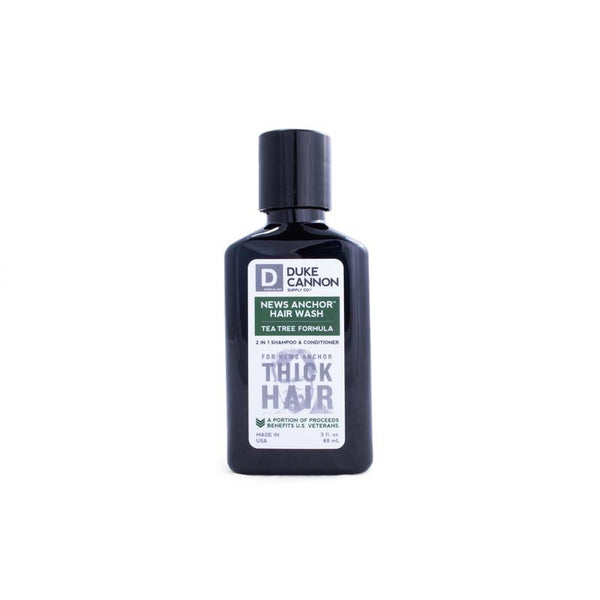 DUKE CANNON® NEWS ANCHOR TEA TREE 2-IN-1 HAIR WASH - TRAVEL SIZE