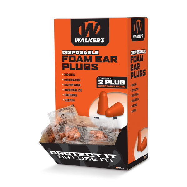 WALKER'S® FOAM EAR PLUGS – 200 PAIR BOX