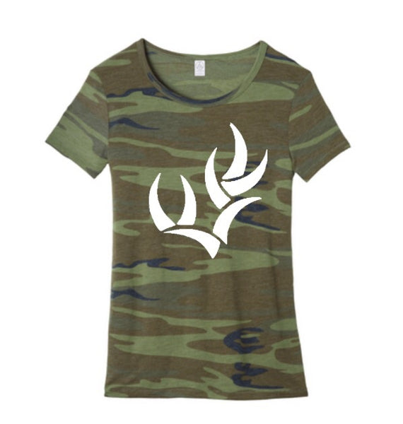ALTERNATIVE WOMEN'S ECO-JERSEY™ IDEAL CAMO TEE