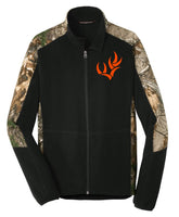WHO PORT AUTHORITY® CAMOUFLAGE MICROFLEECE FULL-ZIP JACKET