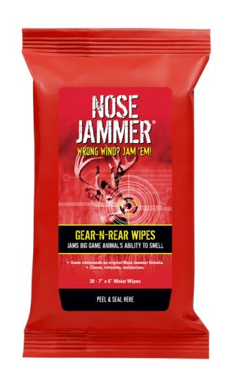 NOSE JAMMER® GEAR-N-REAR FIELD WIPES