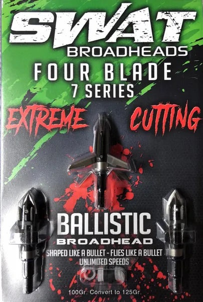 SWAT BALLISTIC 7 SERIES BROADHEADS (3-PACK)