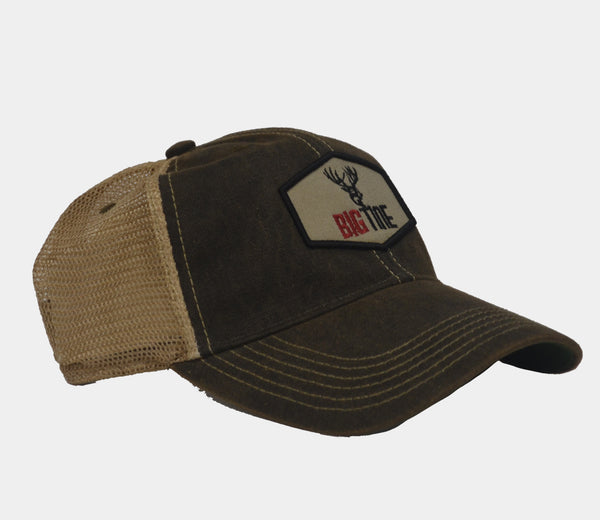 Big Tine Patch Black Trucker Hat