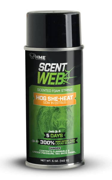 HME™ HOG SHE-HEAT SCENT WEB - SOW IN ESTRUS