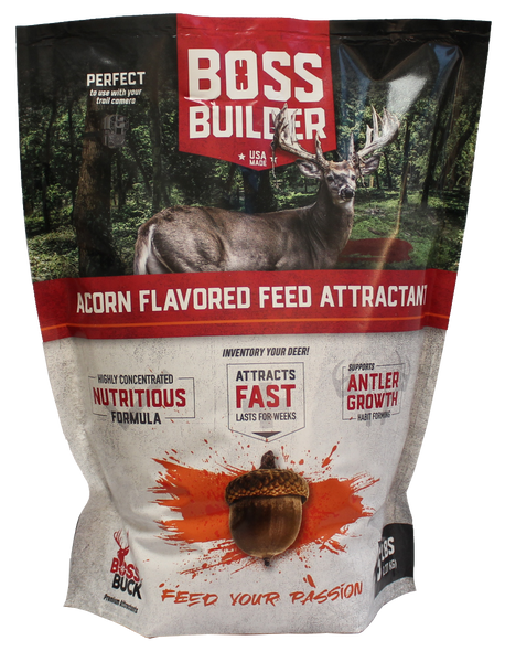 BOSS BUCK® BOSS BUILDER FEED ATTRACTANT - ACORN FLAVORED 5 LBS