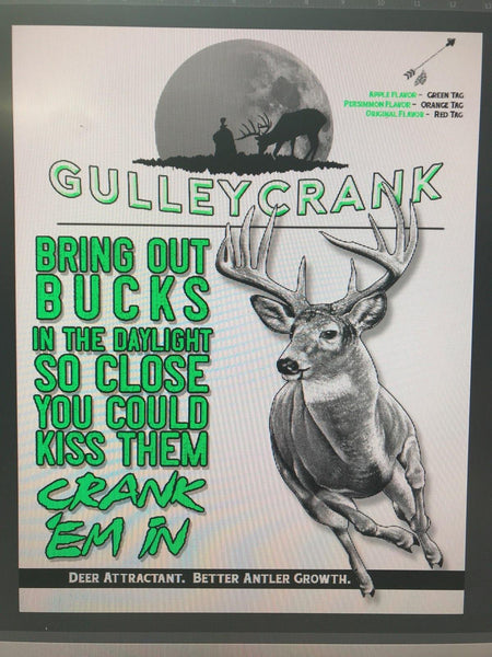 GULLEY CRANK APPLE FLAVOR ATTRACTANT
