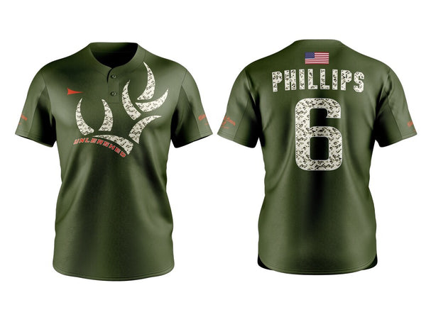 AUTHENTIC WHITETAIL HEAVEN'S UNLEASHED 2019 BASEBALL TEAM JERSEY