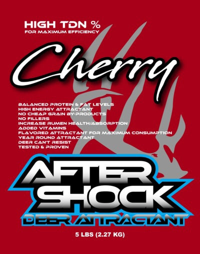 AFTERSHOCK 5LB ATTRACTANT (CHERRY FLAVORED)