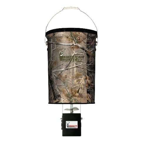 AMERICAN HUNTER® 50 LB CAPACITY HANGING FEEDER W/ E-KIT / REALTREE AP CAMO