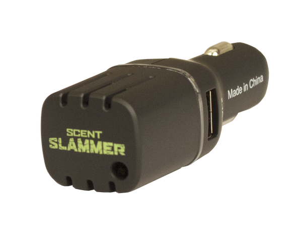 HME™ VEHICLE SCENT ELIMINATOR WITH DUAL USB
