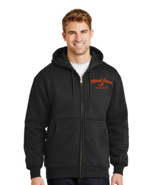 WHO CORNERSTONE® - HEAVYWEIGHT FULL-ZIP HOODED SWEATSHIRT WITH THERMAL LINING