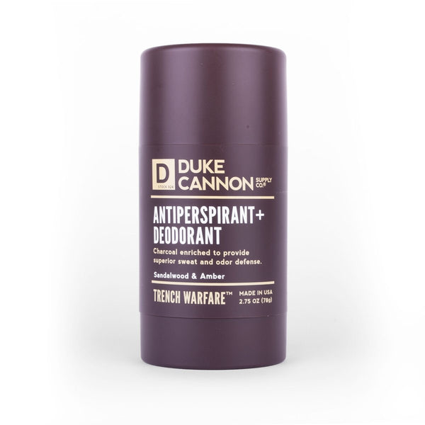 DUKE CANNON® TRENCH WARFARE ANTIPERSPIRANT + DEODORANT (SANDALWOOD & AMBER)