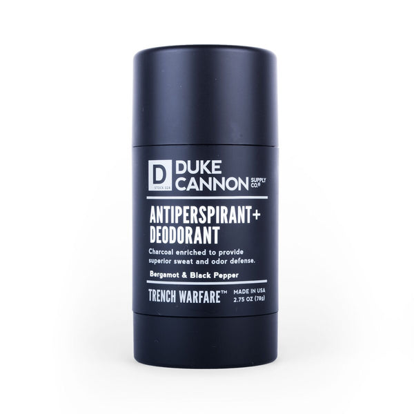 DUKE CANNON® TRENCH WARFARE ANTIPERSPIRANT + DEODORANT (BERGAMOT & BLACK PEPPER)