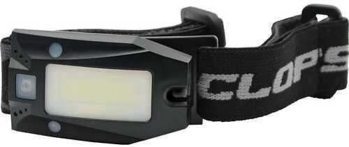 CYCLOPS® RECHARGEABLE COB 150 LUMEN HEADLAMP w/ RED LED & BLACK STRAP