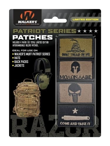 WALKER'S® PATRIOT PATCH KIT-4 ASSORTED PATCHES (AMERICAN FLAG VERSION)