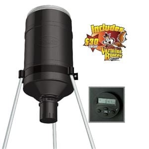 AMERICAN HUNTER® 225 LB. TRIPOD FEEDER W/DIGITAL RD-KIT PRO AND VARMINT BUSTER