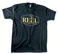 REEL ORIGINAL LOGO T-SHIRT - BLACK