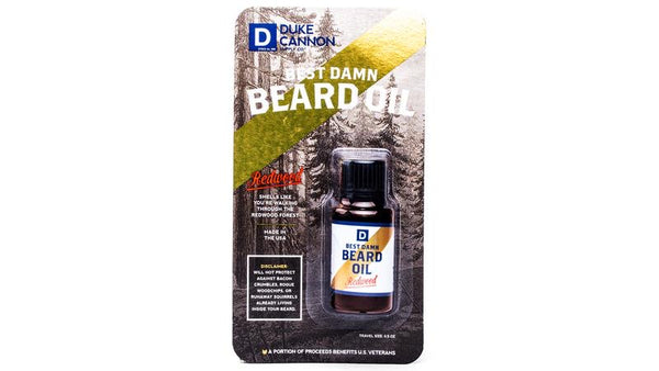*NEW* DUKE CANNON® BEST DAMN BEARD OIL - TRAVEL SIZE