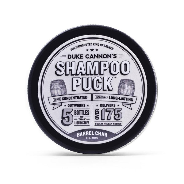 *NEW* DUKE CANNON® SHAMPOO PUCK - BARREL CHAR NO. 004