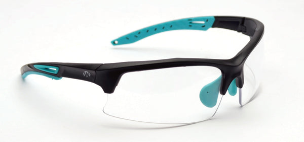WALKER'S® TEAL IMPACT RESISTANT SPORT SHOOTING GLASSES -CLEAR LENSES