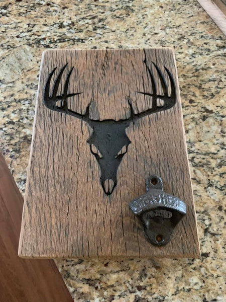DEAD HEAD WALL MOUNT BOTTLE OPENER
