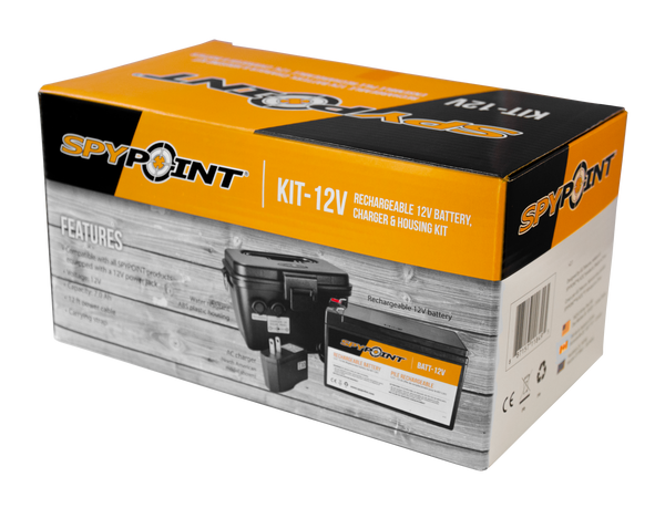 SPYPOINT® 12V BATTERY, CHARGER & HOUSING KIT