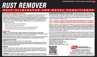 Rust Remover Rust Eliminator and Metal Conditioner