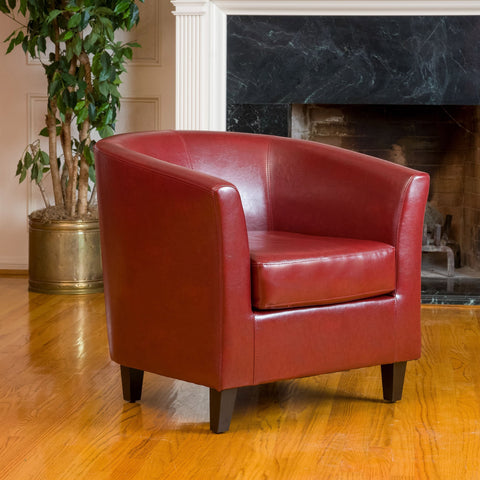 Tub Design Leather Club Chair - NH735602