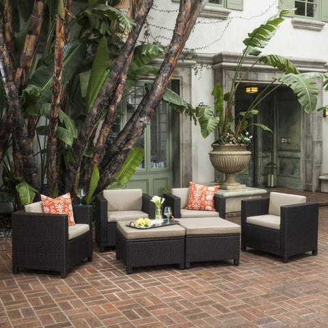 4-6-Seater Outdoor Wicket Chat Set - NH274003