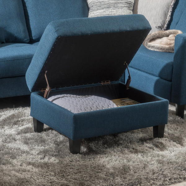 Tufted Cover Fabric Storage Ottoman - NH411003