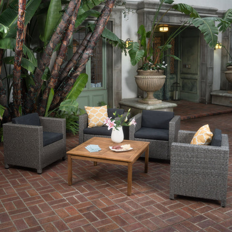 4-Seater Outdoor Chat Set with Coffee Table - NH644003