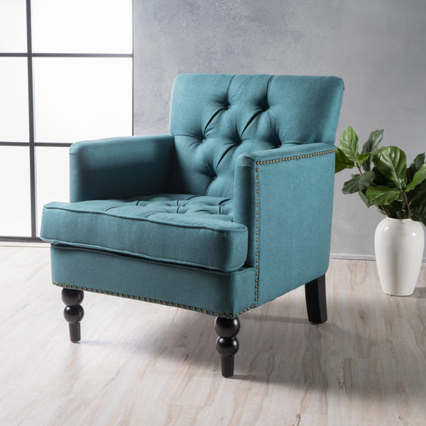 Tufted Back Fabric Club Chair - NH560003