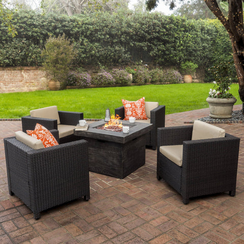 4-Seater Outdoor Fire Pit Chat Set - NH864003