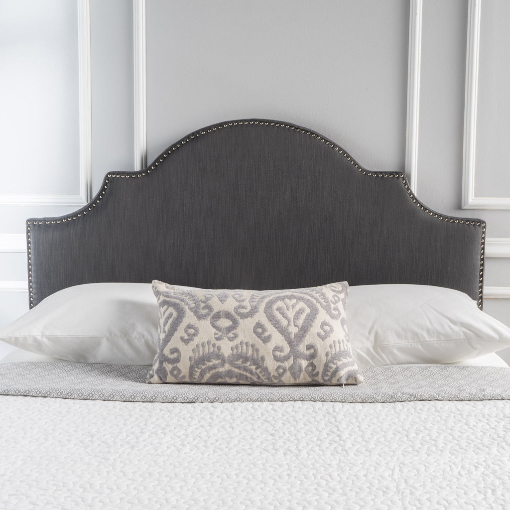 Gray Fabric Queen Full Headboard Nh874892 Noble House Furniture