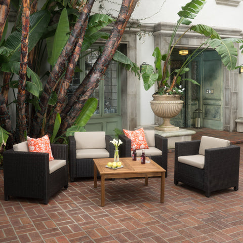 4-Seater Outdoor Chat Set with Coffee Table - NH544003