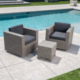 2-Seater Outdoor Chat Set with Side Table - NH909103