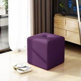Modern Button Tufted Club Fabric Upholstered Ottoman - NH348303