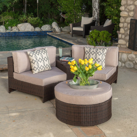4pc Outdoor Chat Set w/ Storage Trunk - NH050992