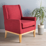 Red Fabric Accent Chair - NH661003