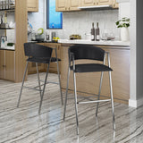 Modern Leather 28.25 Inch Barstool (Set of 2) - NH995303