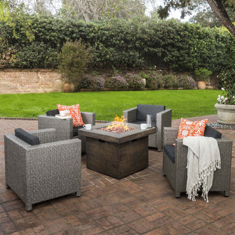 4-Seater Outdoor Fire Pit Chat Set - NH154003