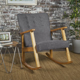 Mid Century Modern Fabric Rocking Chair - NH881203