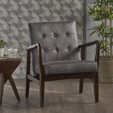 Mid Century Modern Microfiber Club Chair - NH714203