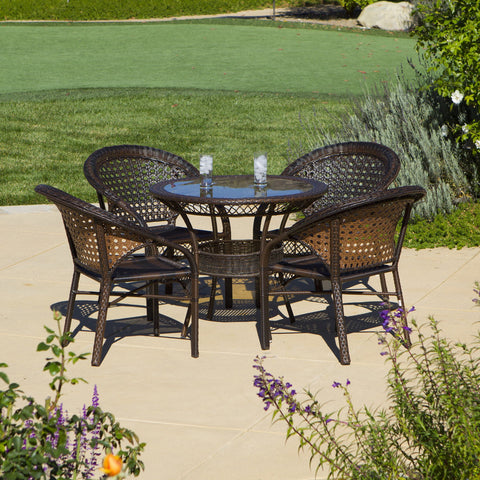 5pc Outdoor Wicker Dining Set - NH867872