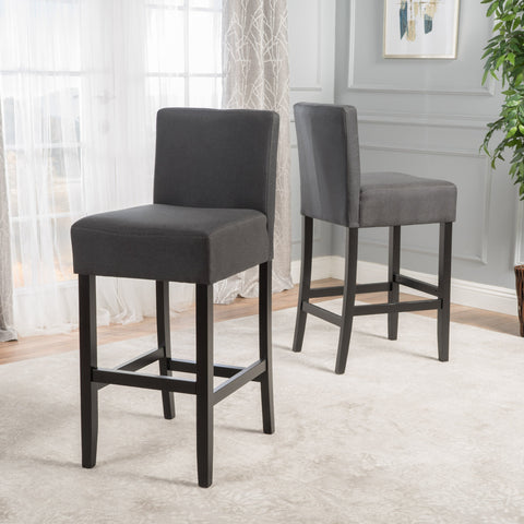 Backed Fabric Barstools (Set of 2) - NH978003